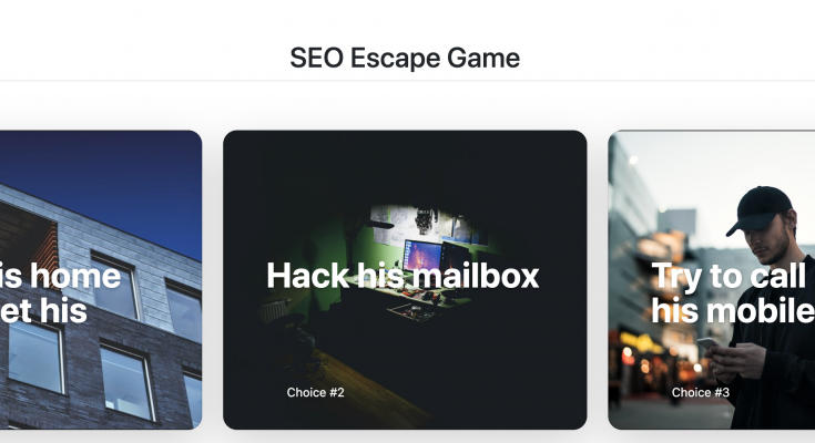 SEO Escape Game